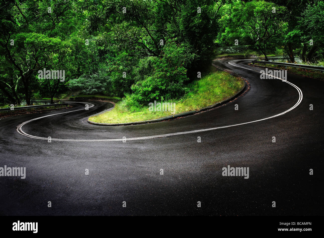 Winding road - Stock Image