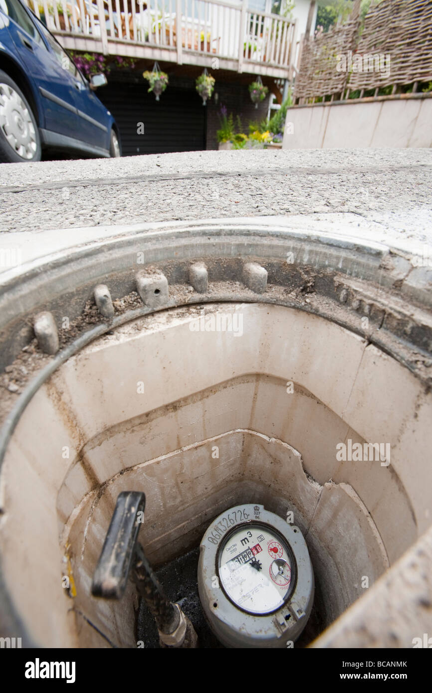 A household water meter - Stock Image