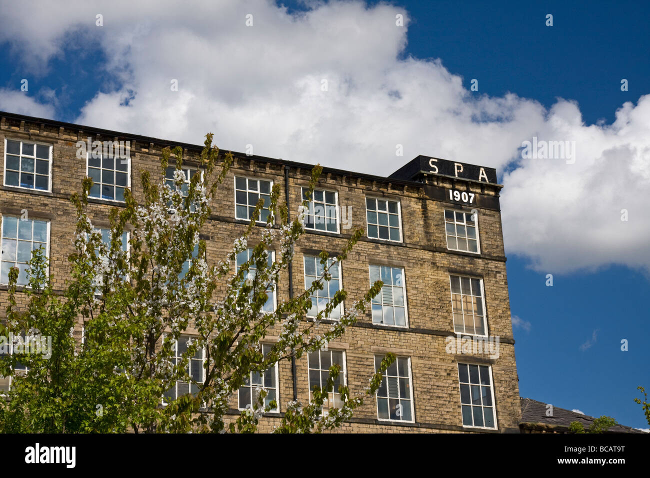 The Spa Mills, Slaithwaite, West Yorkshire - Stock Image