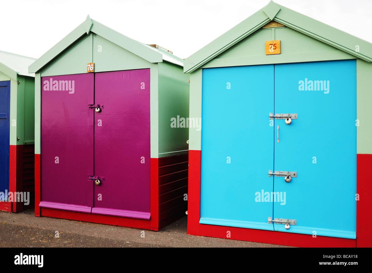Beach huts in brighton - Stock Image