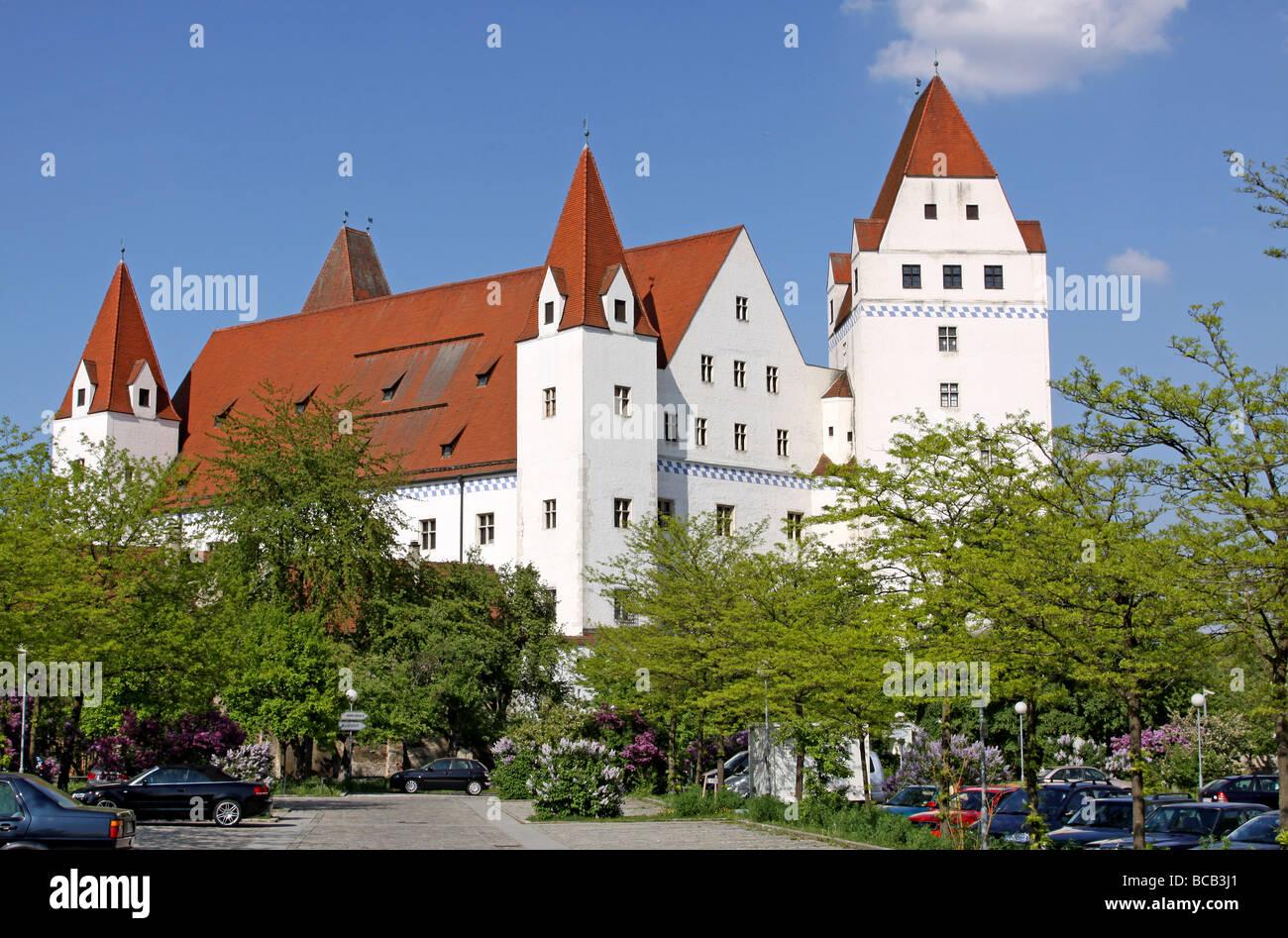 Neues Schloss, New Castle, Ingolstadt, Bayern, Bavaria, Germany Stock Photo