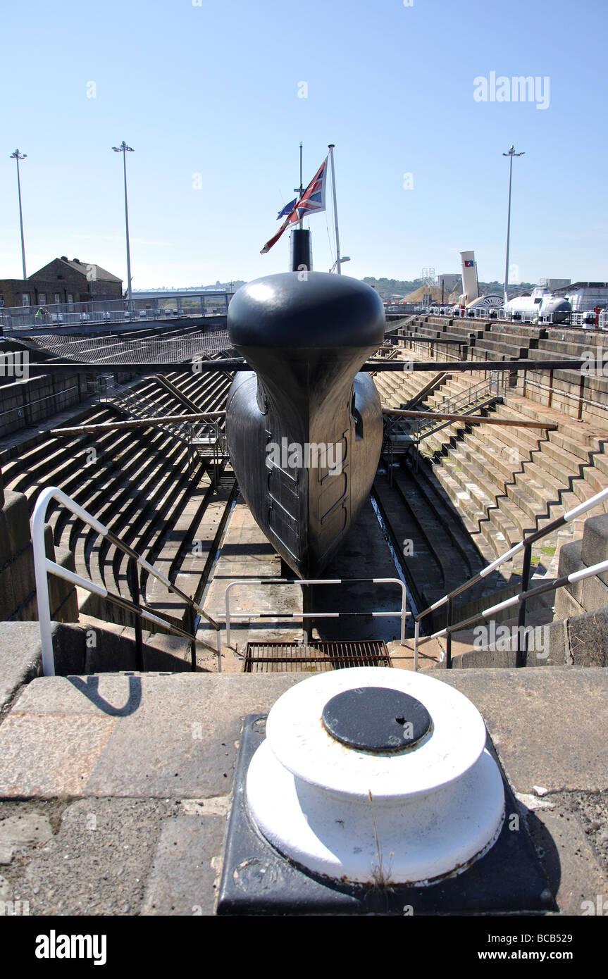 HM Submarine Ocelot, Chatham Historic Dockyard, Chatham, Kent, England, United Kingdom - Stock Image