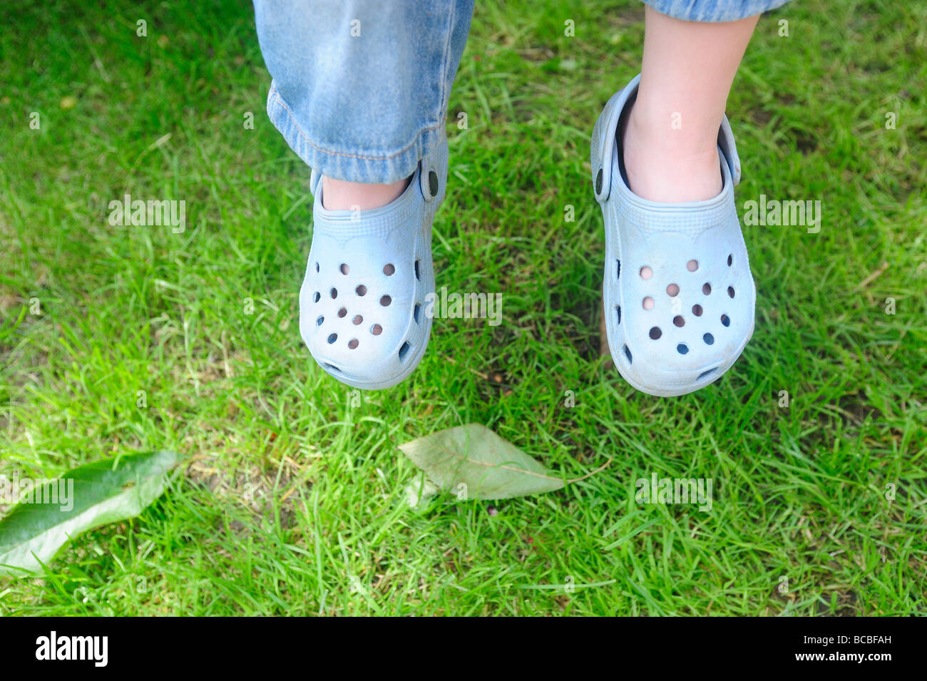 0e46dc5c54bd Crocs Feet Stock Photos   Crocs Feet Stock Images - Alamy