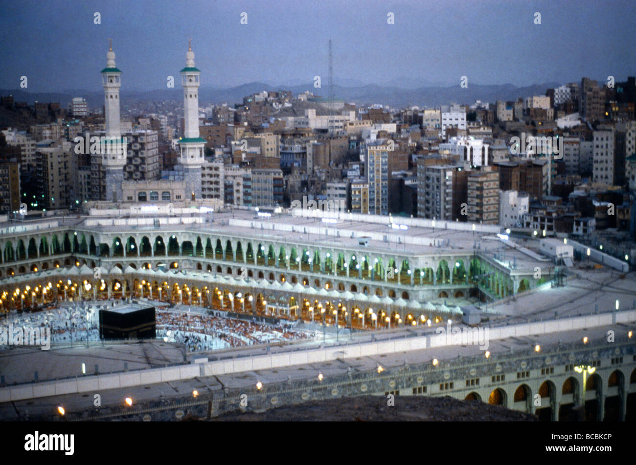 Makkah Saudi Arabia Aerial View Of Ka Aba Stock Photo Alamy