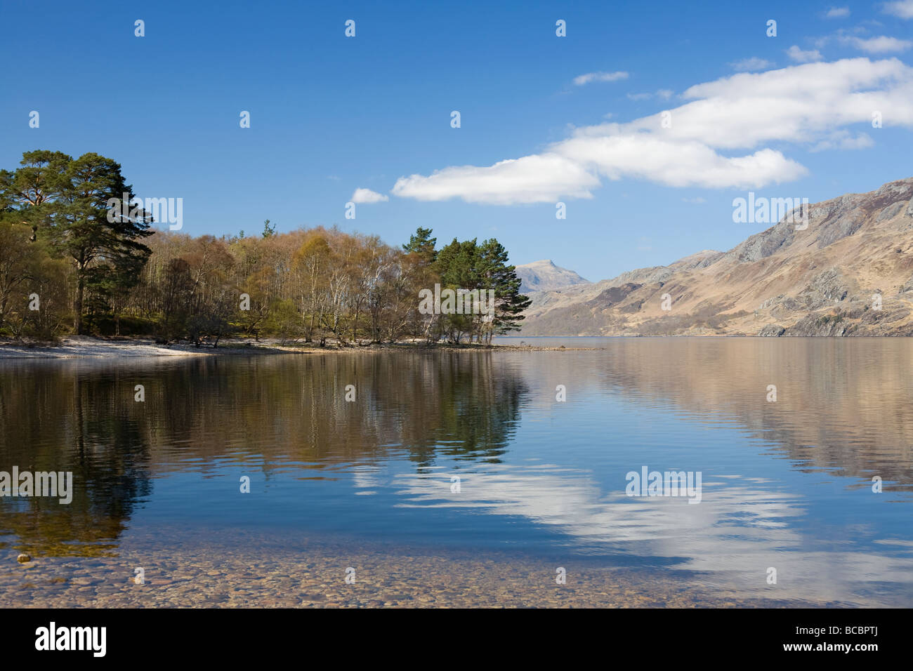 Sunny Day by beautiful Loch Maree, Ross-shire, Scotland - Stock Image