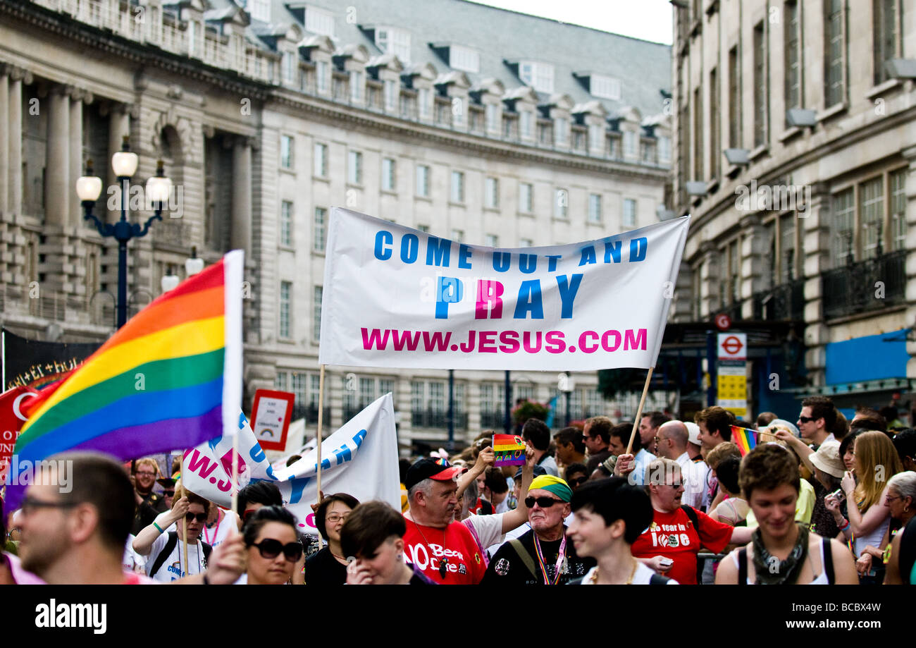 Gay pride banners