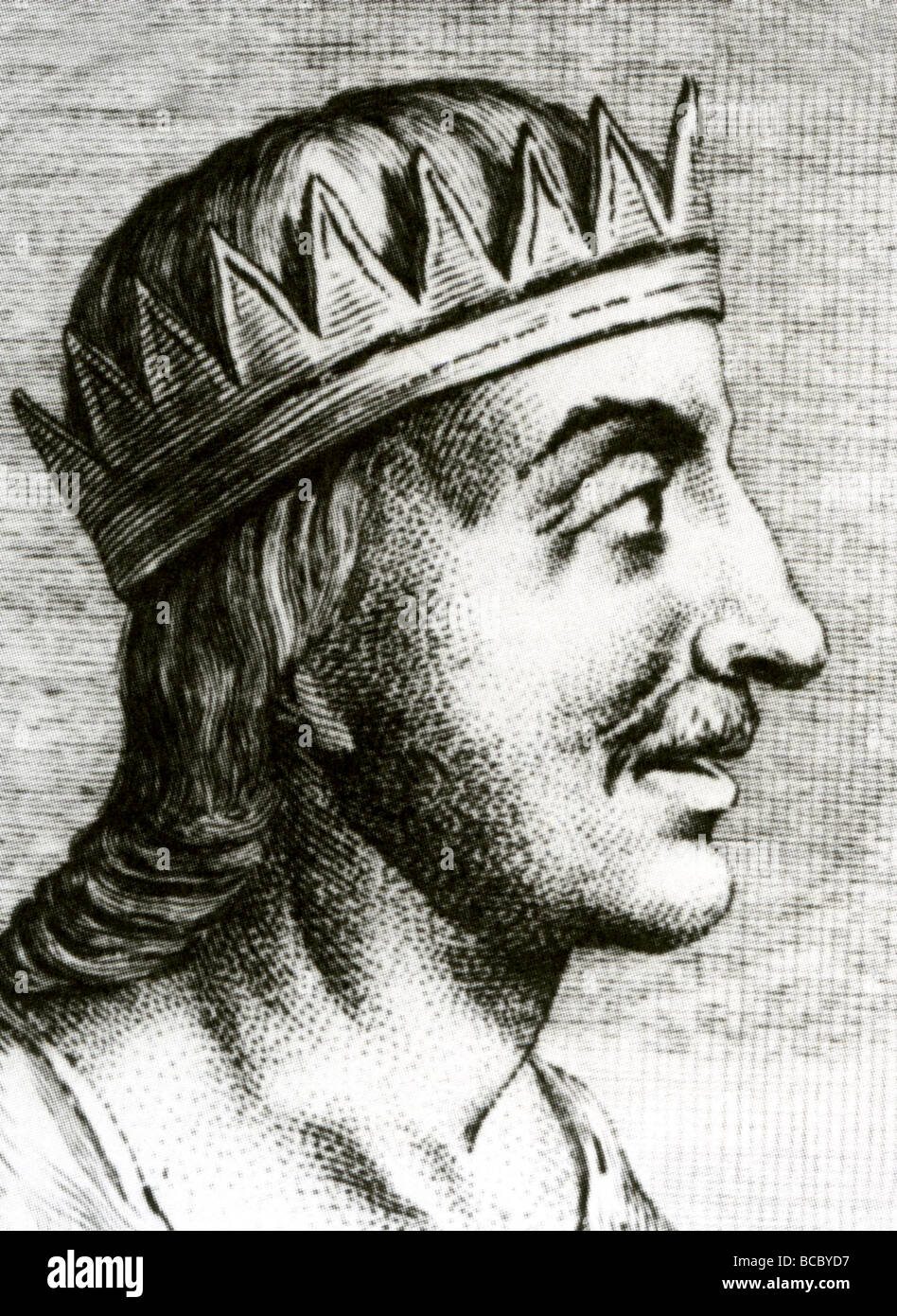 KING EGBERT OF WESSEX  - West Saxon king and the first ruler of all the English - Stock Image