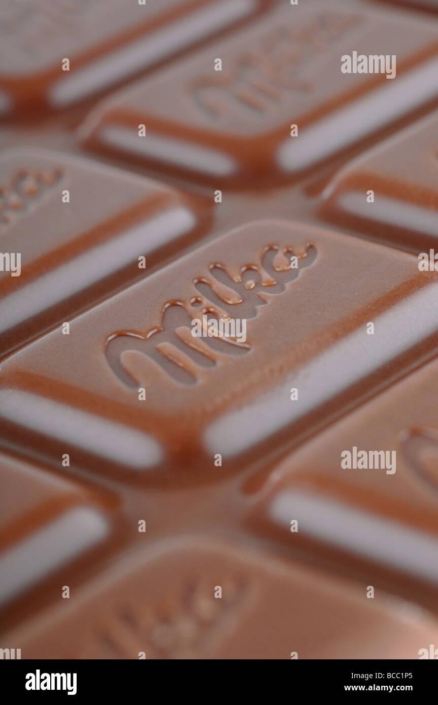 milka chocolate 'milk chocolate' - Stock Image