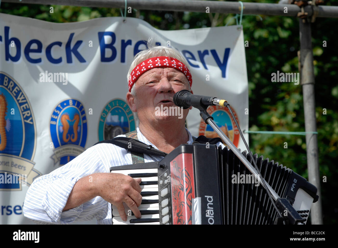 Tommy Banner of The Wurzels band - Stock Image
