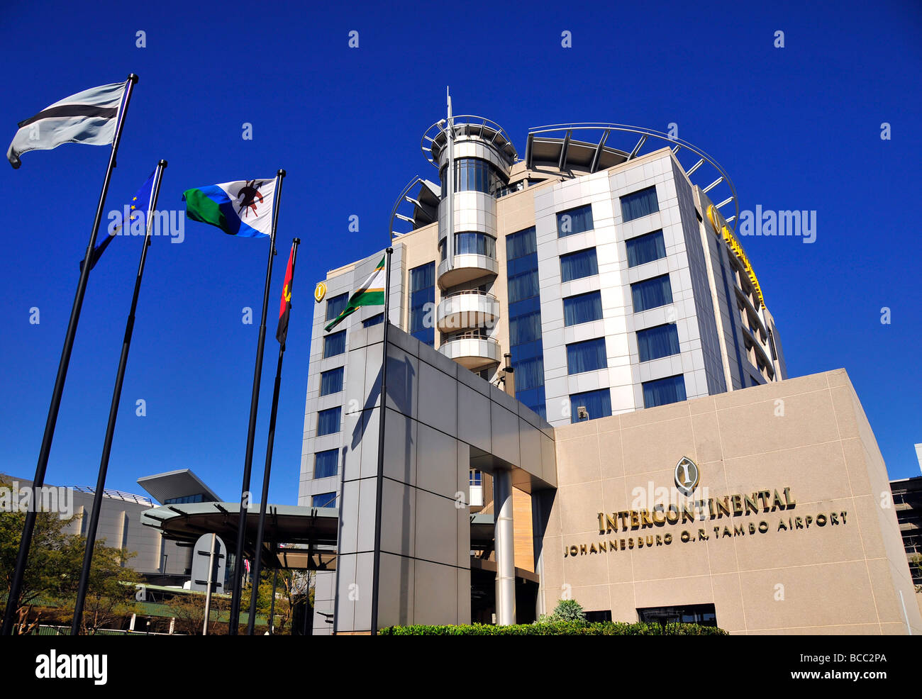 Intercontinental Hotel, Johannesburg O.R. Tambo Airport , South Africa - Stock Image