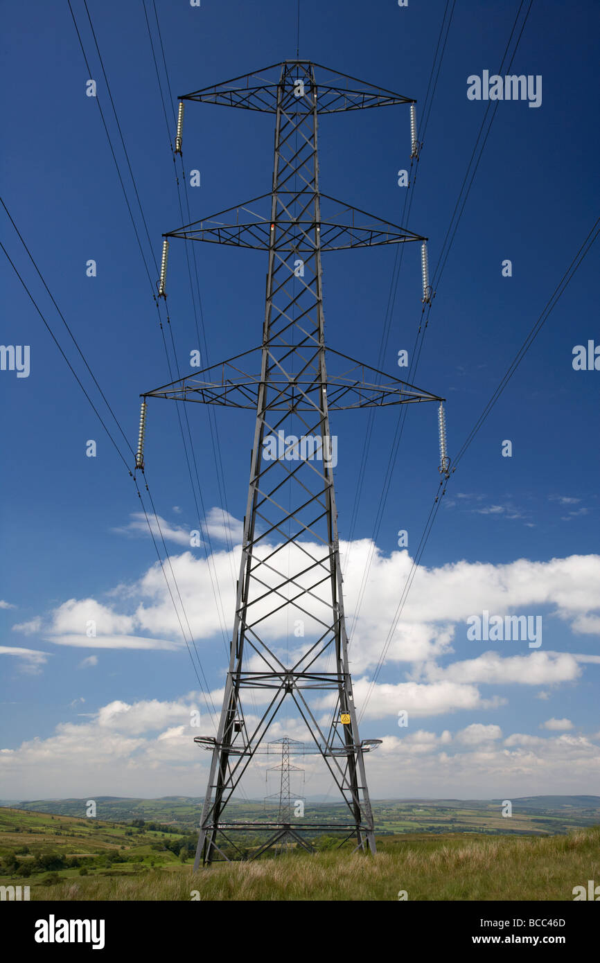high voltage electricity pylon county londonderry derry northern ireland uk - Stock Image