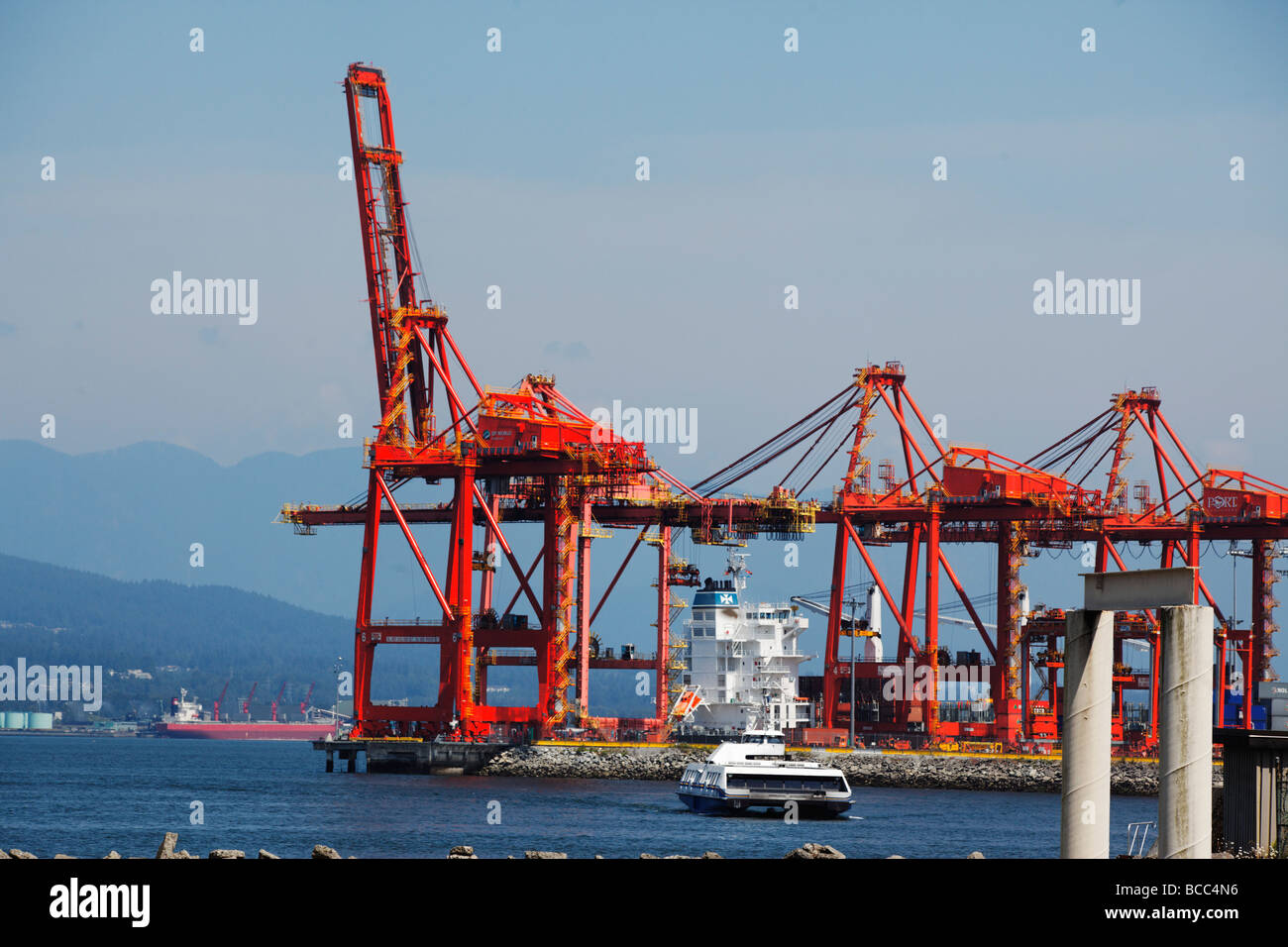 Port of Vancouver Ferrry to Northern Vancouver Canada North America - Stock Image