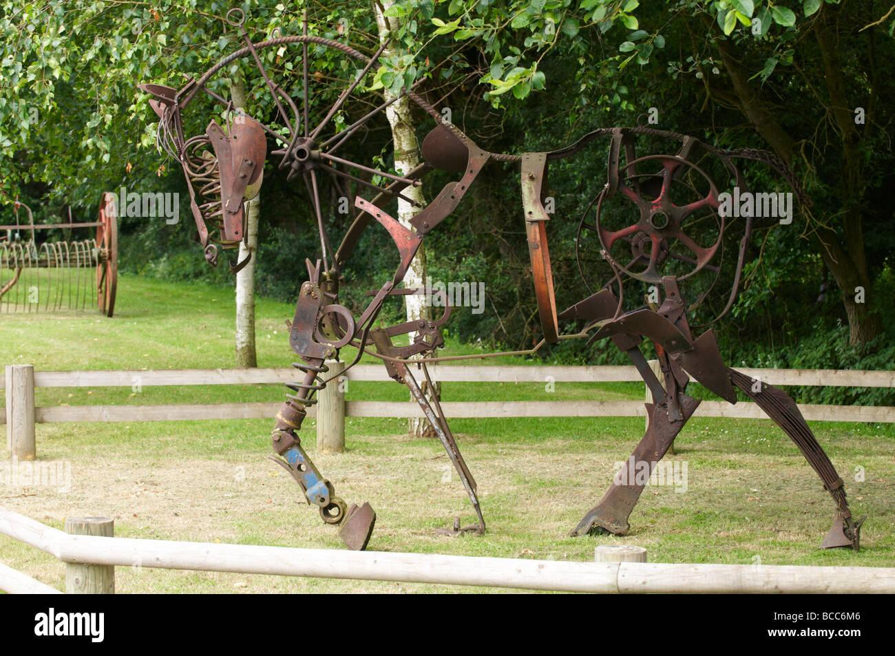 Horse sculpture Stock Photo