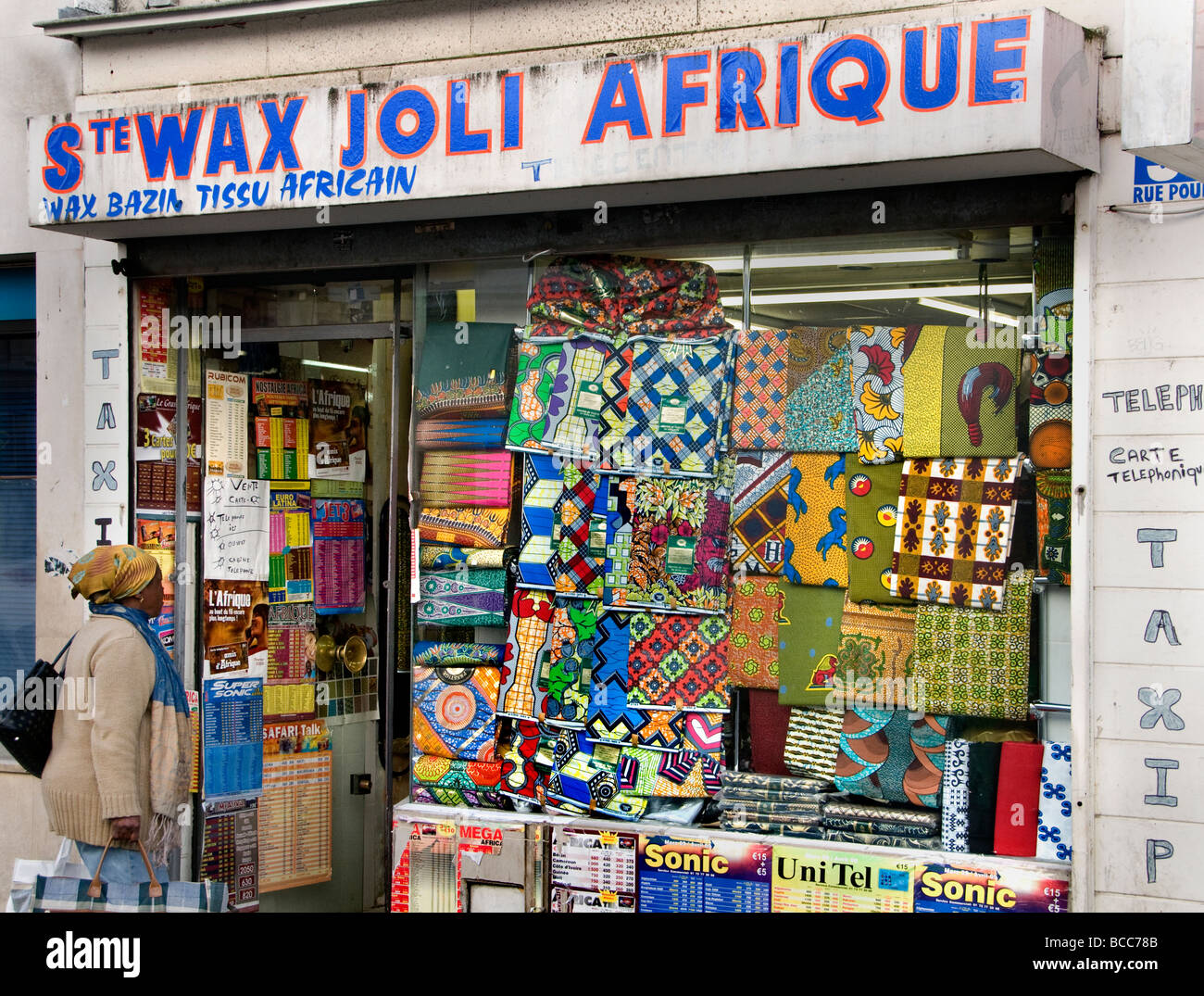 Barbes Rochechouart african arab quarter district of Paris. - Stock Image
