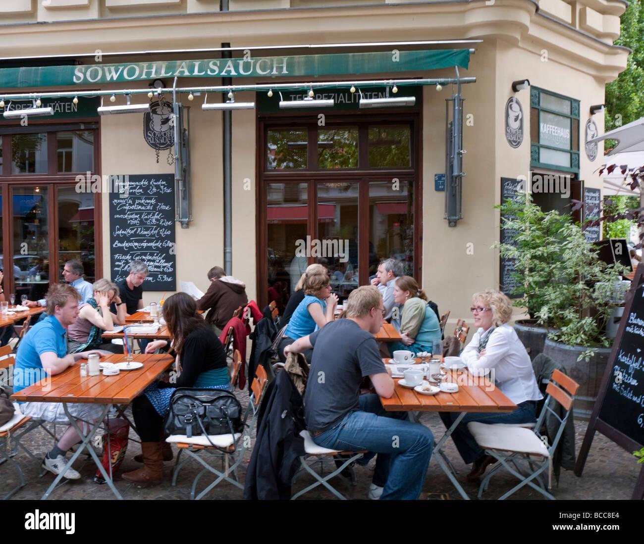 Street Cafe Berlin Stock Photos Street Cafe Berlin Stock Images