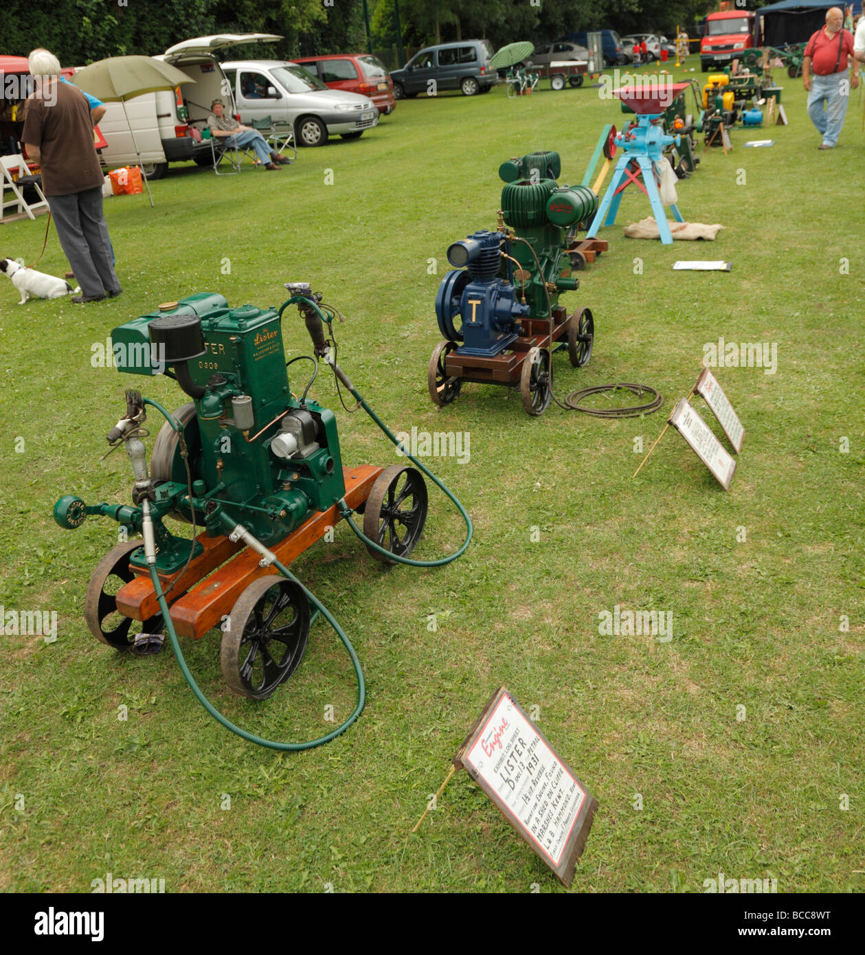 Collection of stationary steam engines. - Stock Image