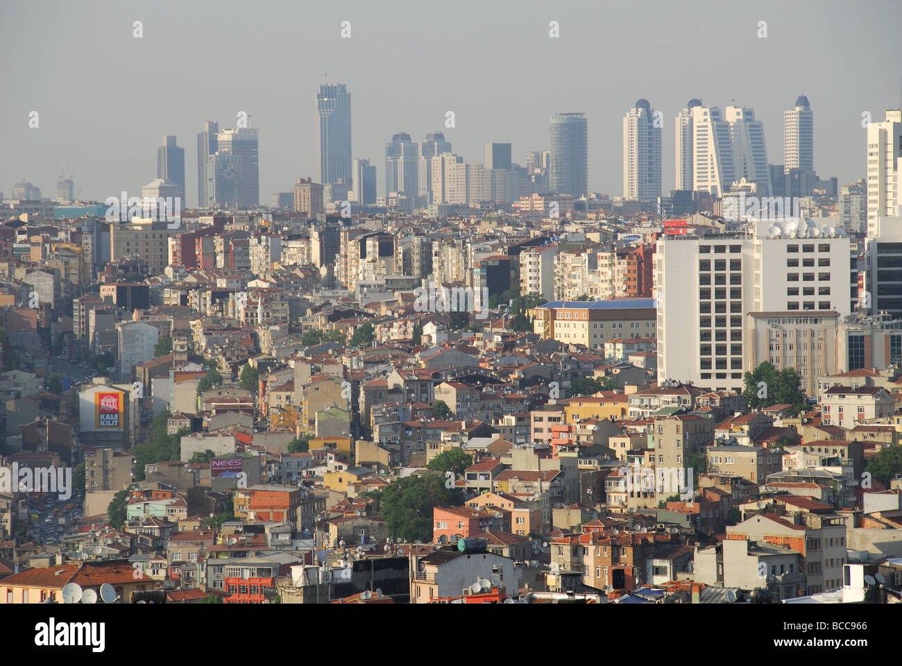 ISTANBUL, TURKEY. A view of the city north from Beyoglu district towards Levent. 2009. - Stock Image