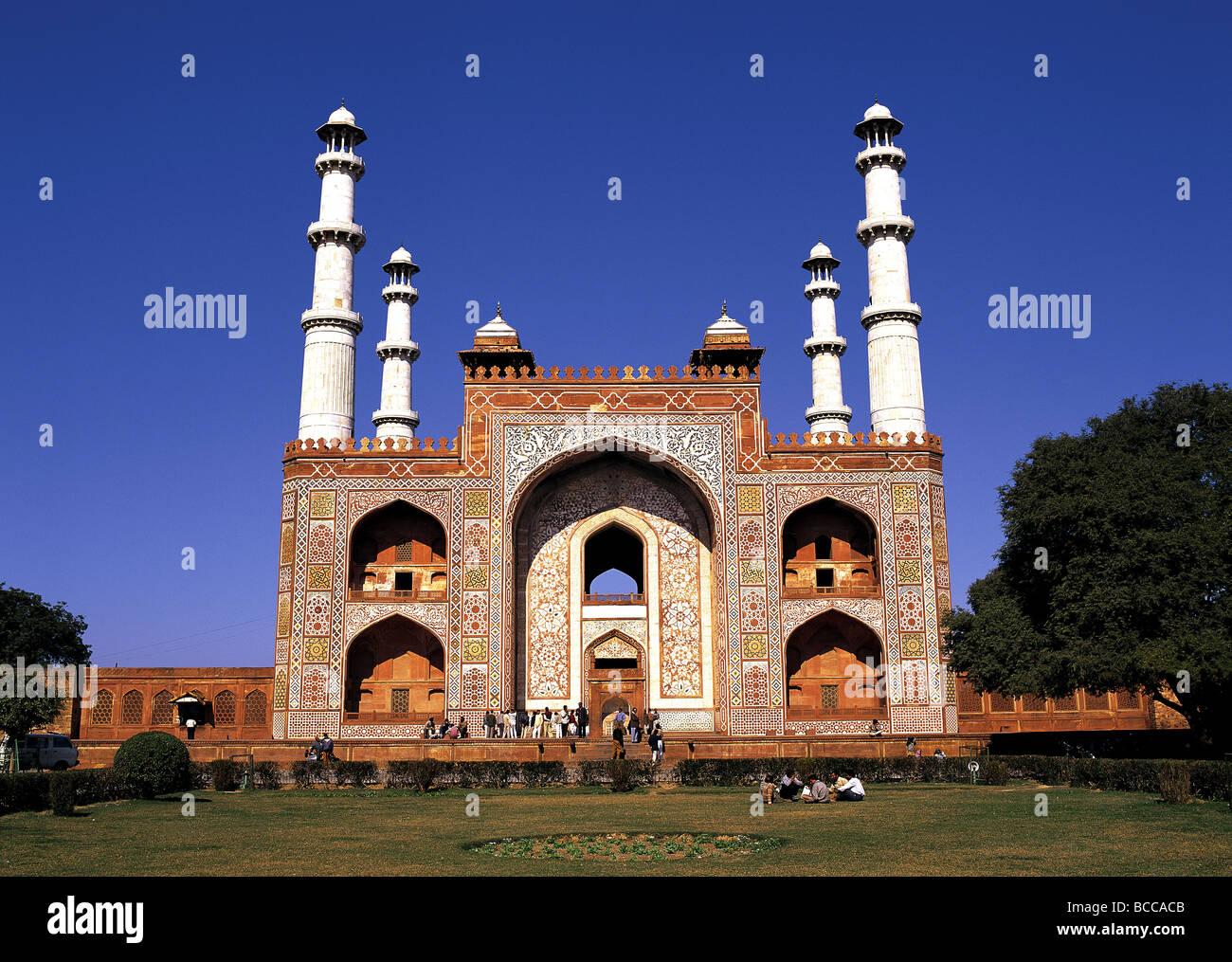 Gatehouse to Akbar Tomb,  Sikandra, India - Stock Image