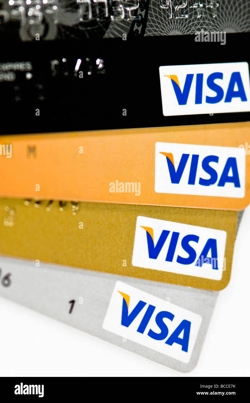 credit card cutout - Stock Image