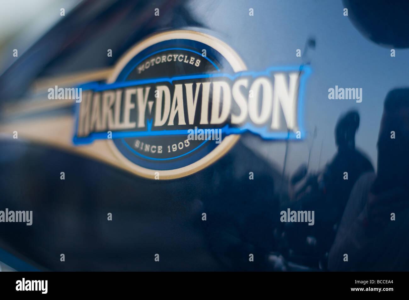 Harley Davidson motorbikes in Dubai - Stock Image