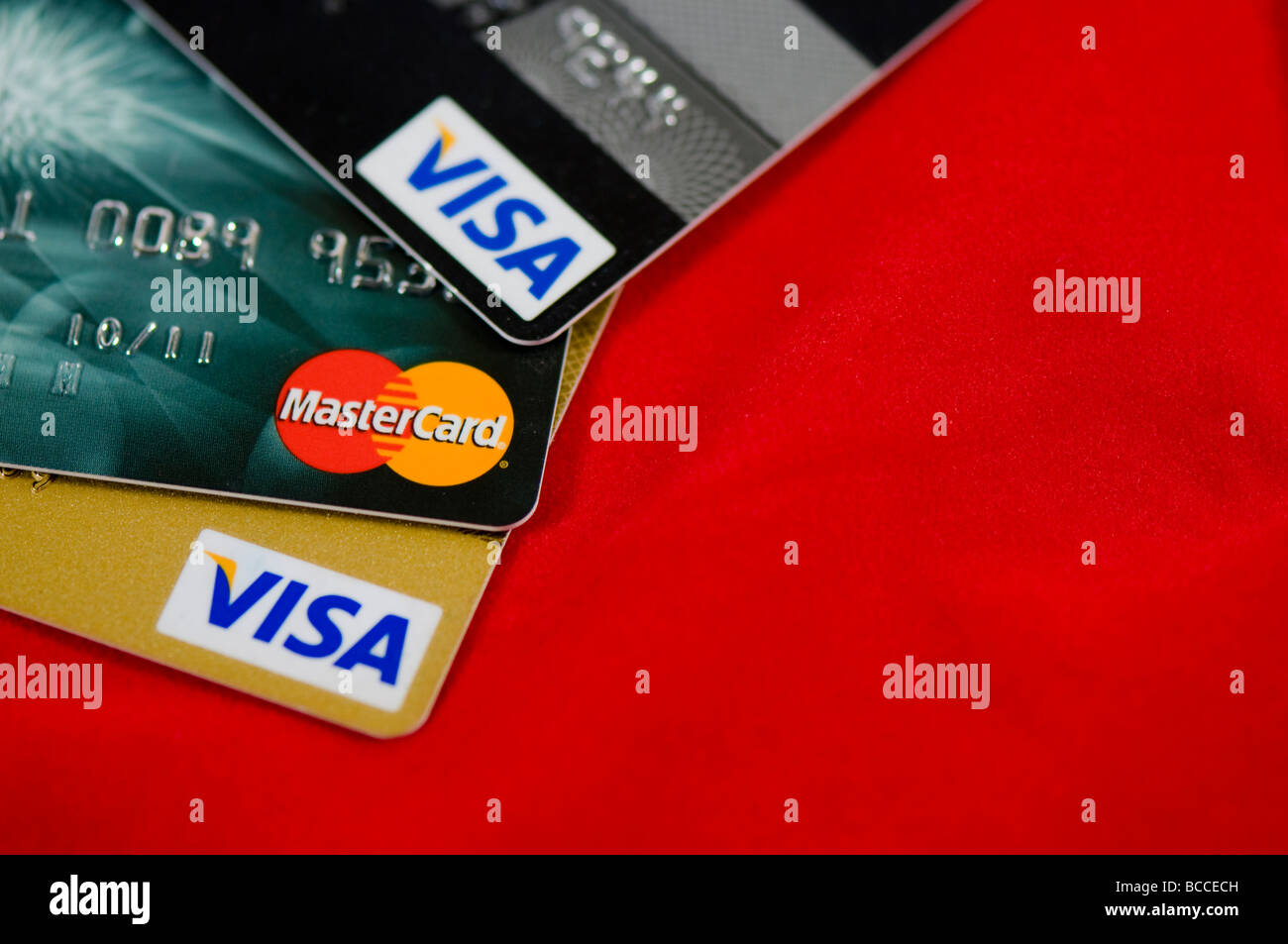 credit card cutout - Stock Image