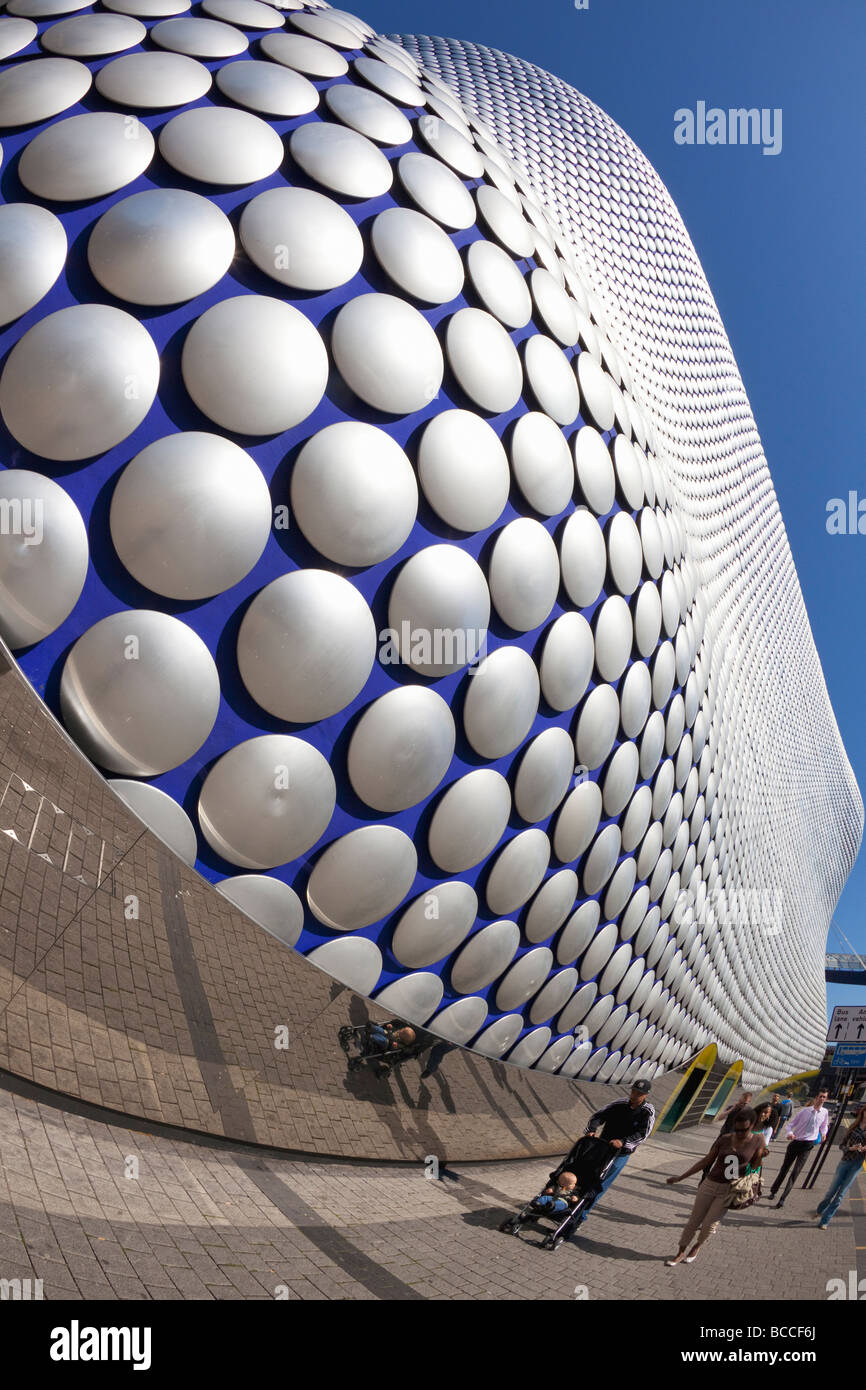 Pedestrians walking past Selfridges Building in the Birmingham Bullring West Midlands England UK United Kingdom - Stock Image
