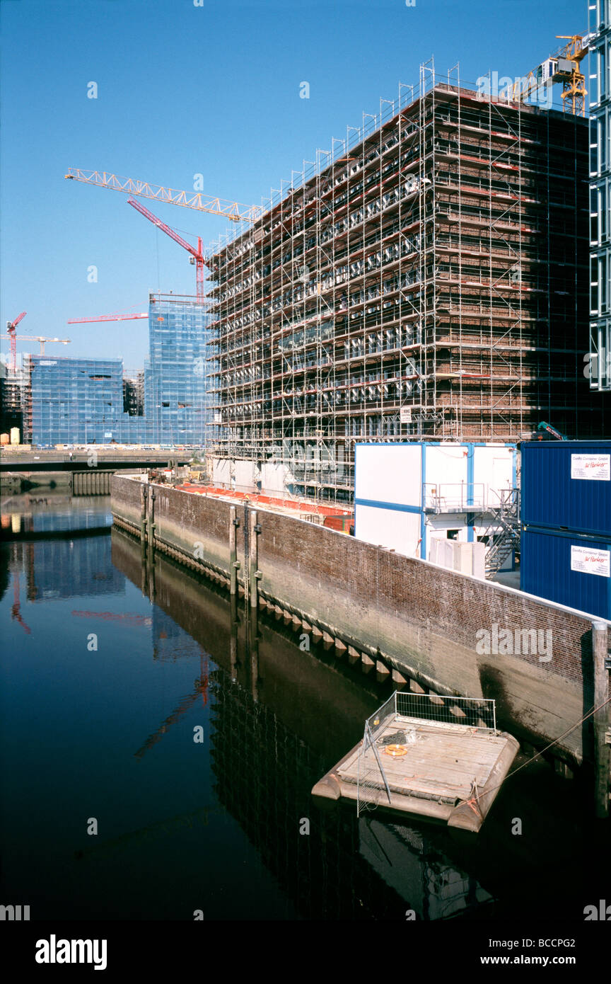 July 2, 2009 - View from Shanghaibrücke of the future head office building of Germanischer Lloyd in Hamburg's Hafencity. Stock Photo