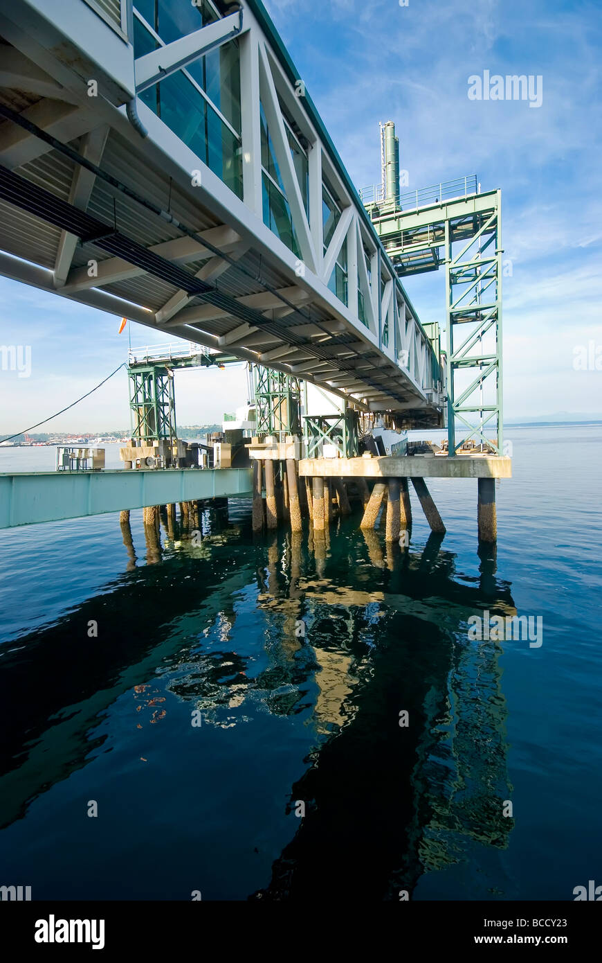 Gangplank for ferries in Washington State - Stock Image