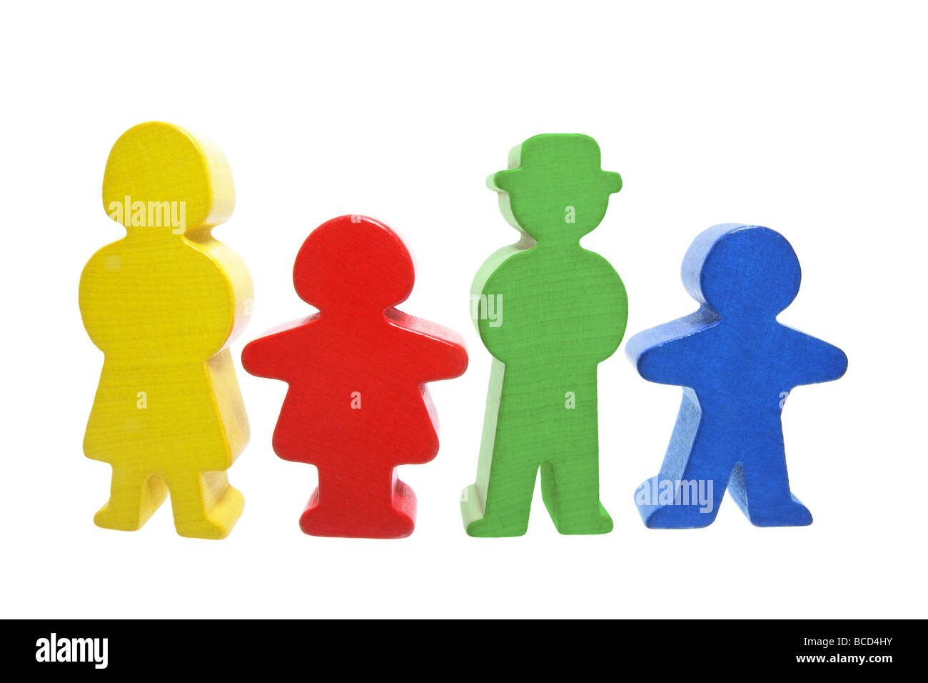 Wooden Family Figures - Stock Image