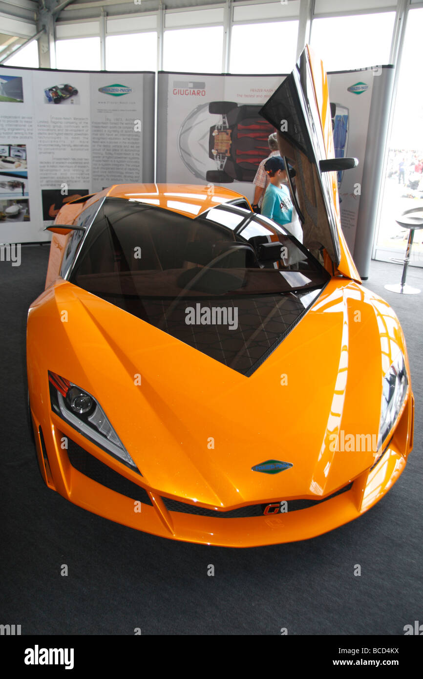 The Frazer-Nash Namir Concept car, the fastest hybrid in the world, at the Goodwood Festival of Speed in July 2009. - Stock Image