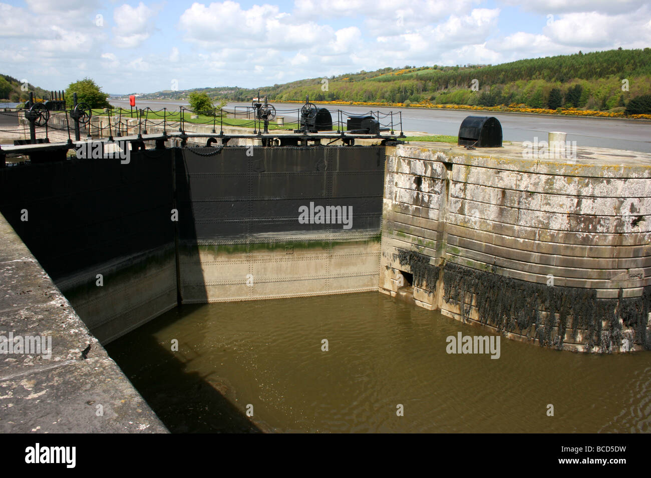 Victoria Lock, by the Newry Canal, Ireland - Stock Image