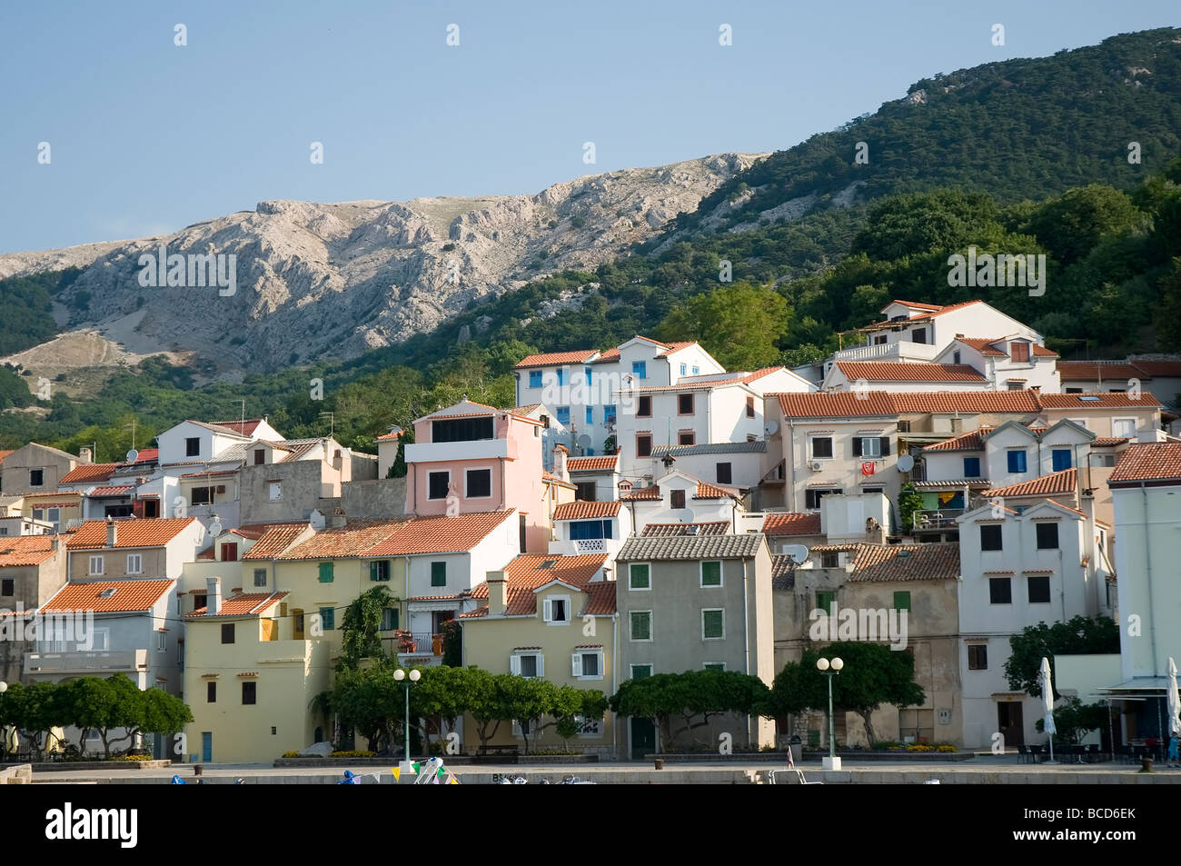 The old town of baska - Stock Image
