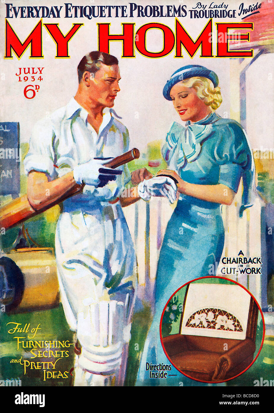 my home cricket cover of the 1930s home and lifestyle womens magazine stock photo 24878252 alamy. Black Bedroom Furniture Sets. Home Design Ideas