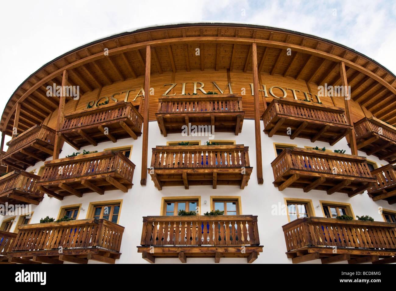 Posta Zirm Hotel Corvara in Badia Bolzano Italy Stock Photo