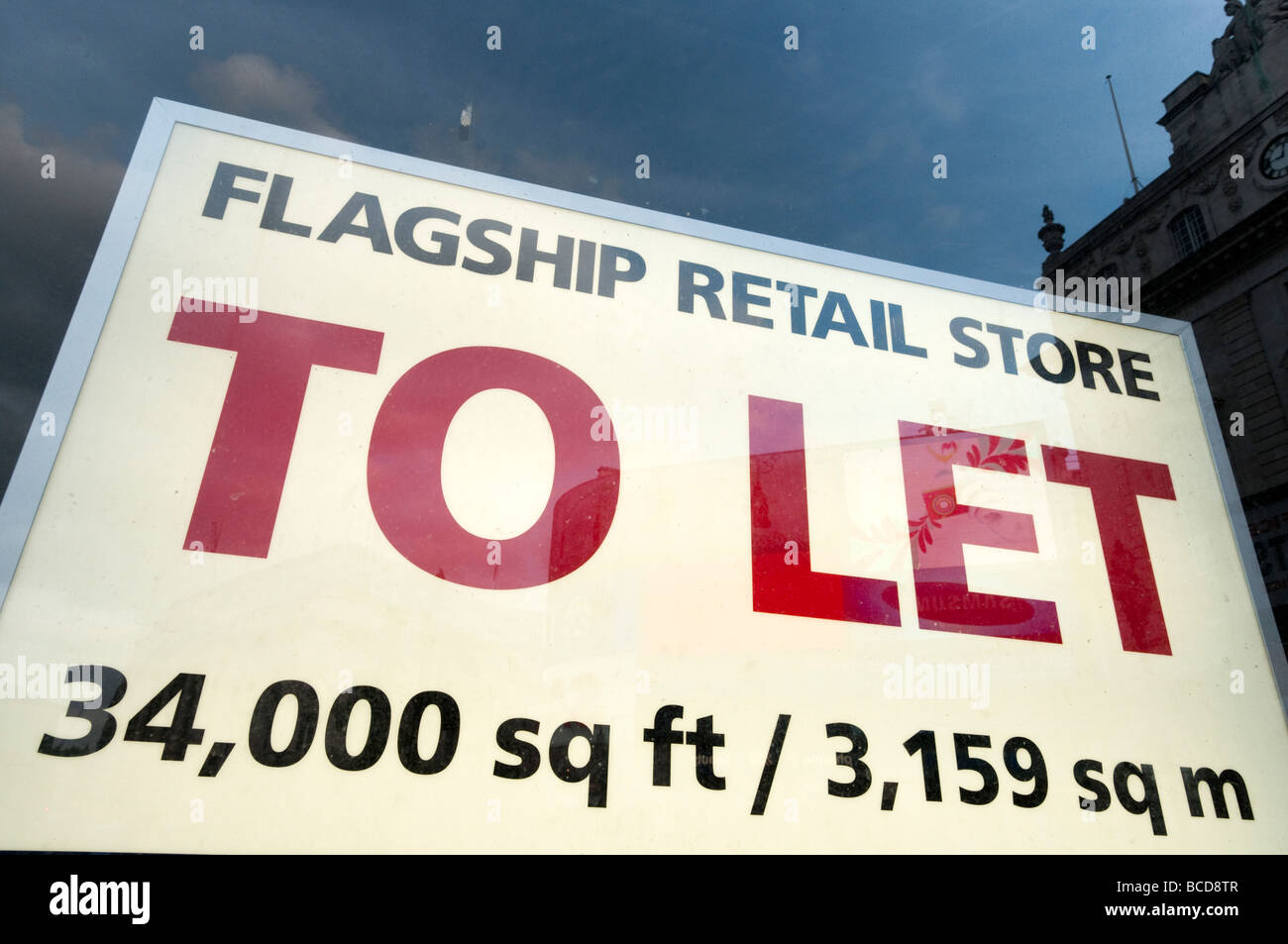 Empty retail store to let London England UK - Stock Image