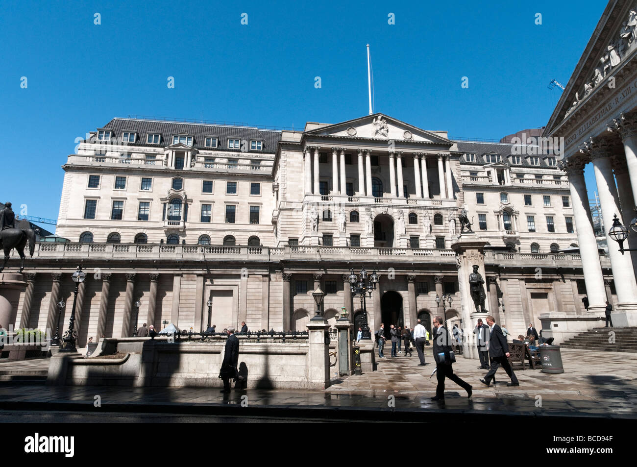 The Bank of England in the City of London, UK - Stock Image