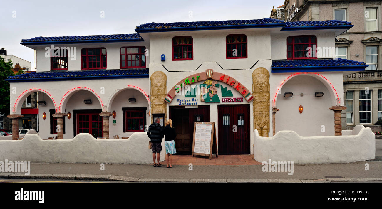 Senor Dicks Mexican Restaurant Newquay - Stock Image