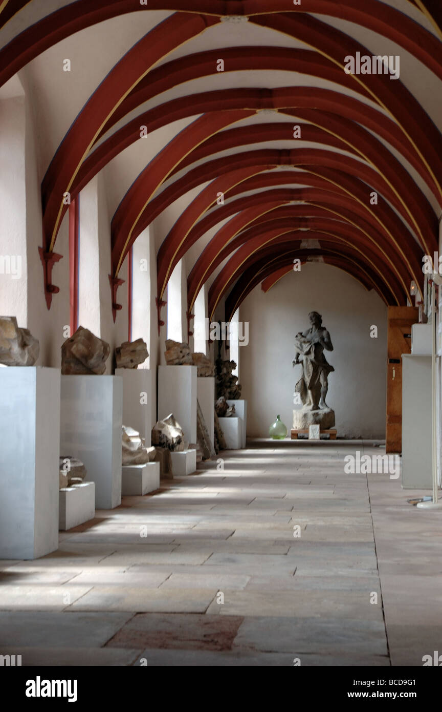 Cloisters in the Chartreuse Museum, Molsheim, Alsace, France Stock Photo