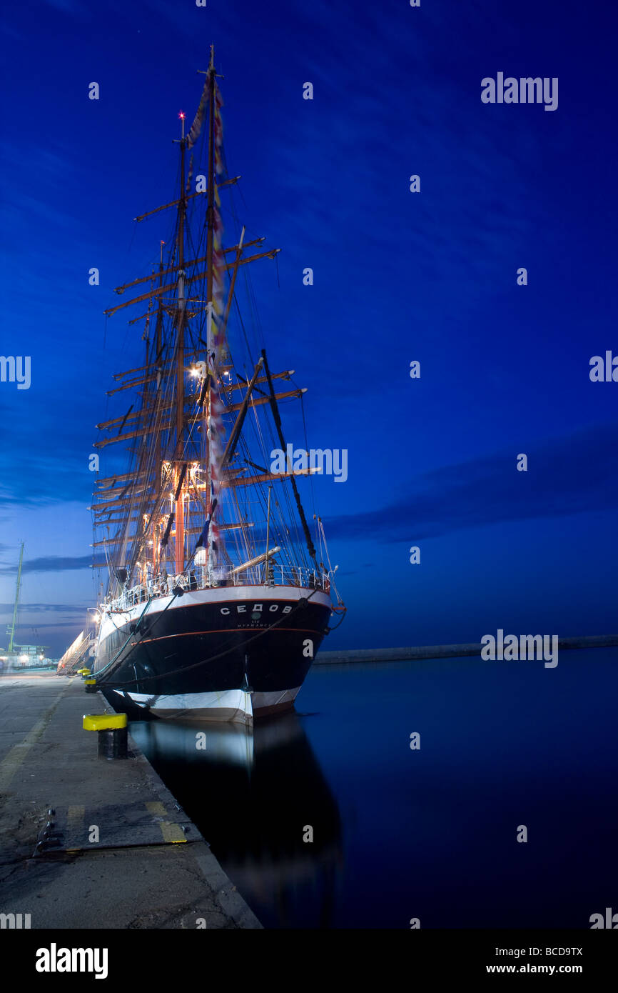 Siedov Class A ship during Tall Ships Races 2009 in Gdynia, Poland. - Stock Image