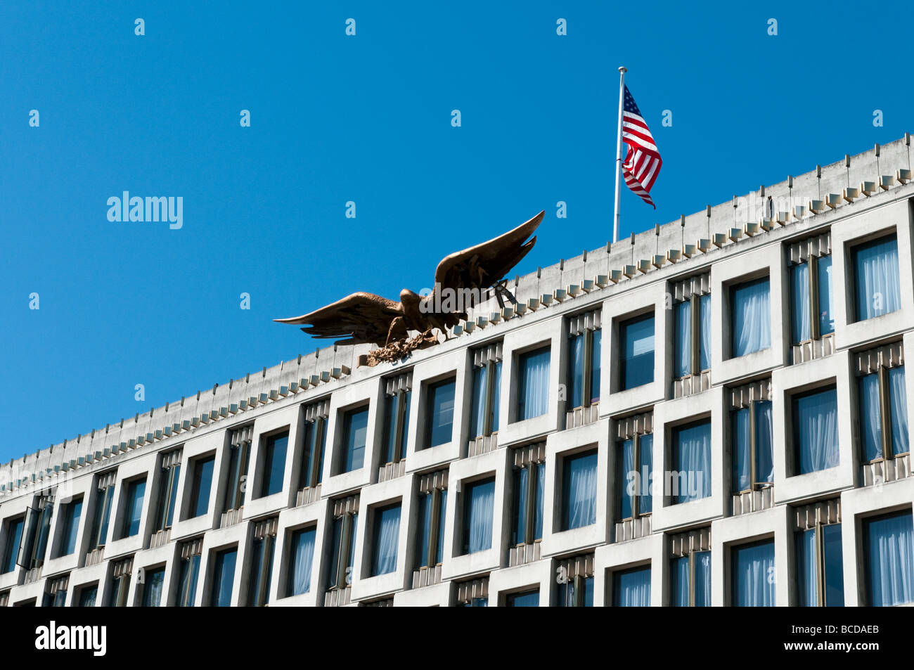 The American Embassy in Grosvenor square, London England UK - Stock Image