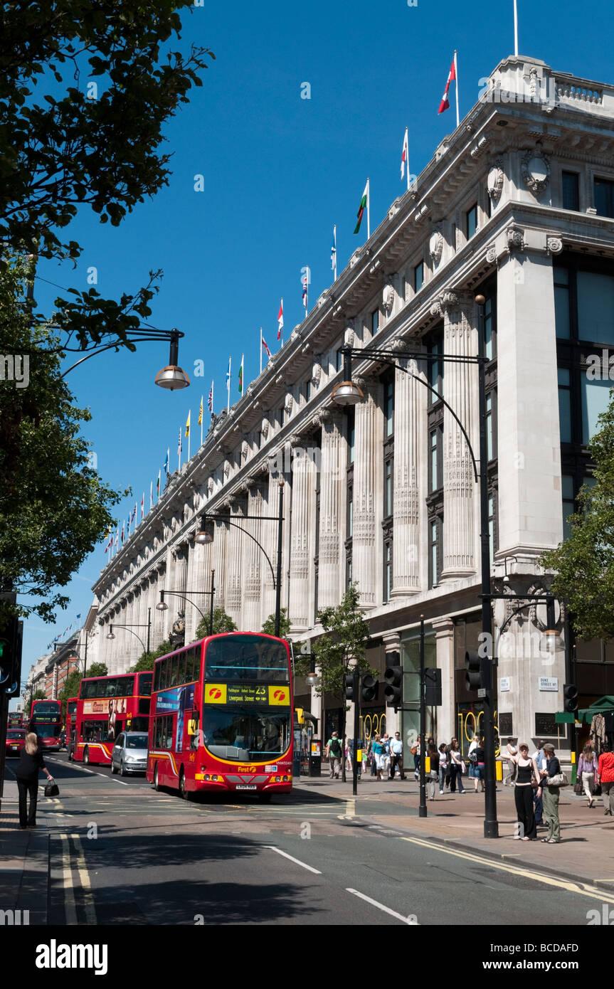 Selfridges department store on Oxford Street London England Britain UK - Stock Image