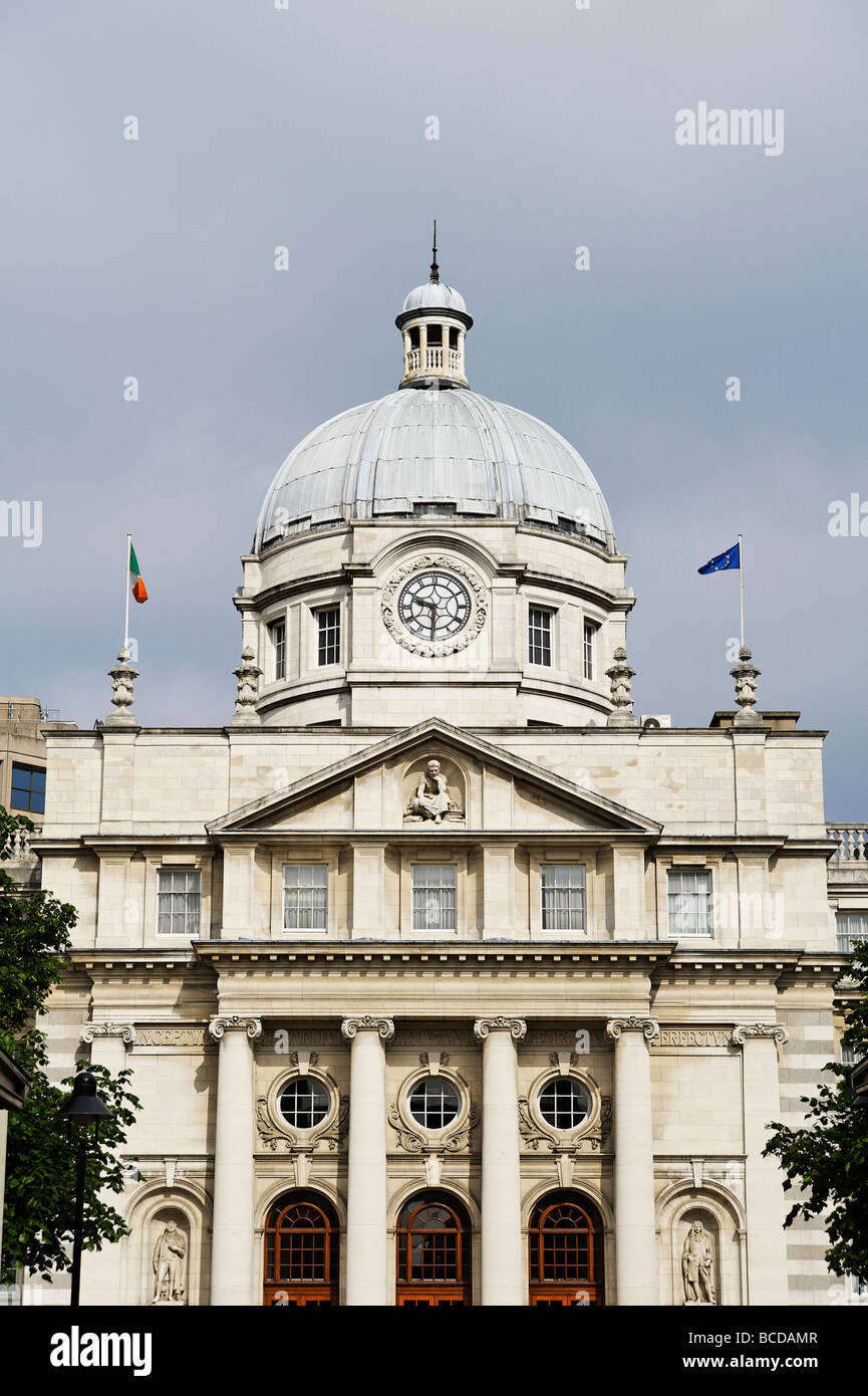 Leinster House building which is the seat of the Irish Parliament Dublin Republic of Ireland Stock Photo