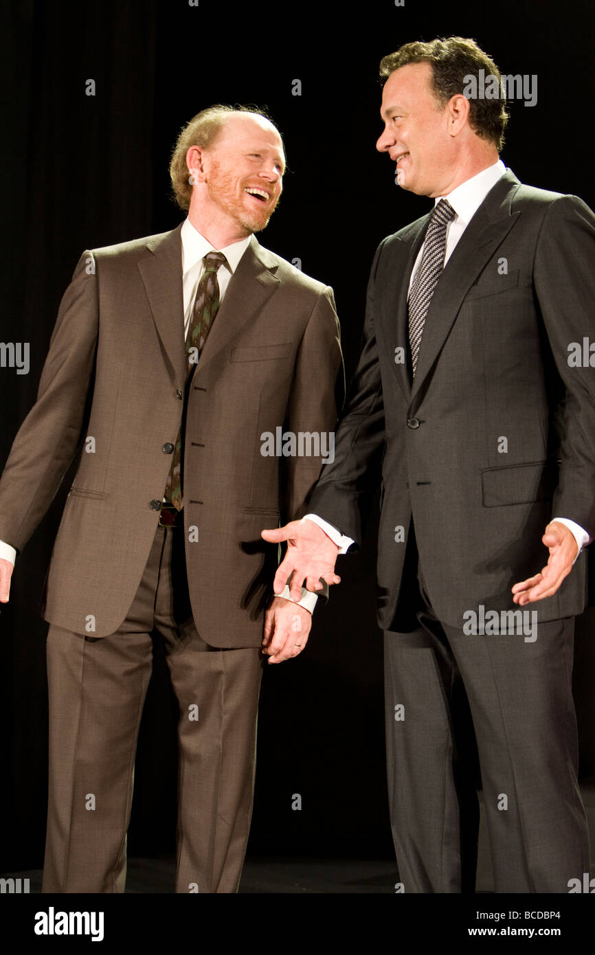 American film star Tom Hanks and movie director Ron Howard - Stock Image