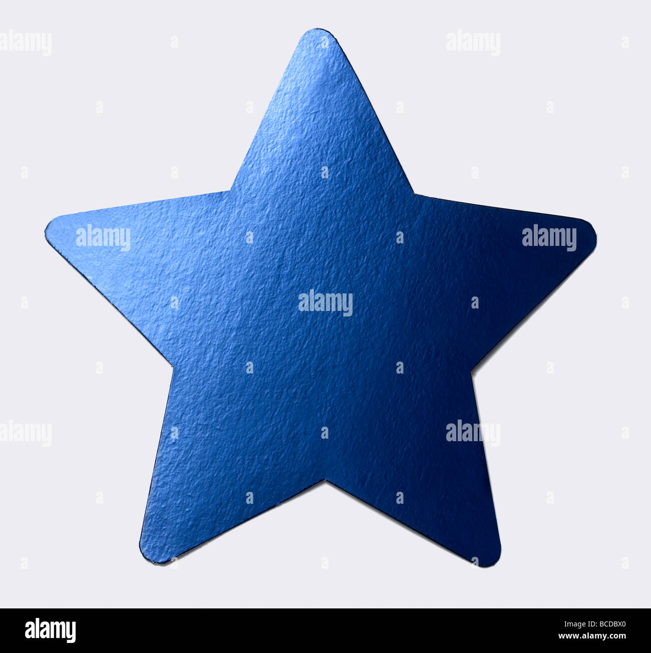 Blue star - Stock Image