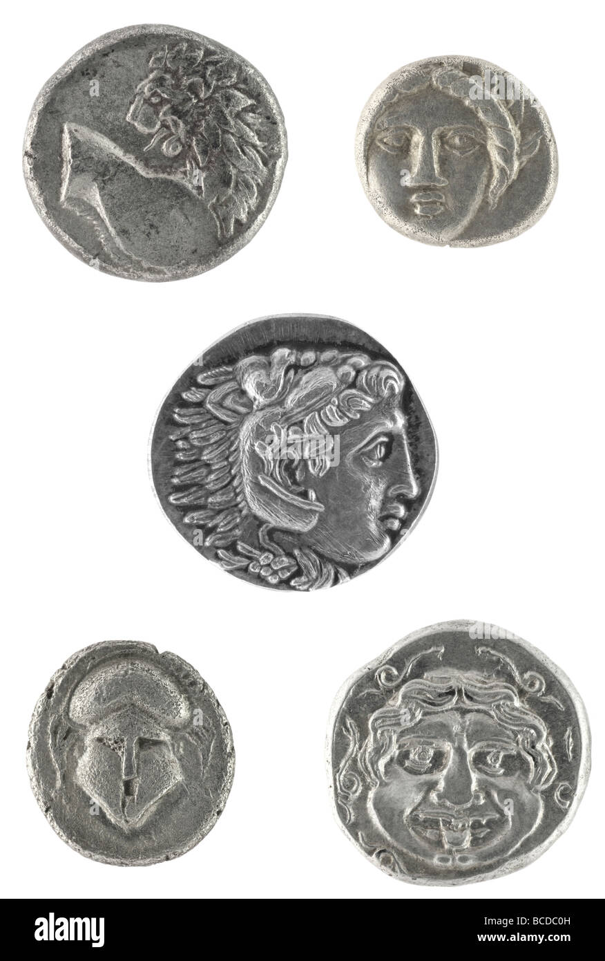 Ancient Greek coins - Stock Image