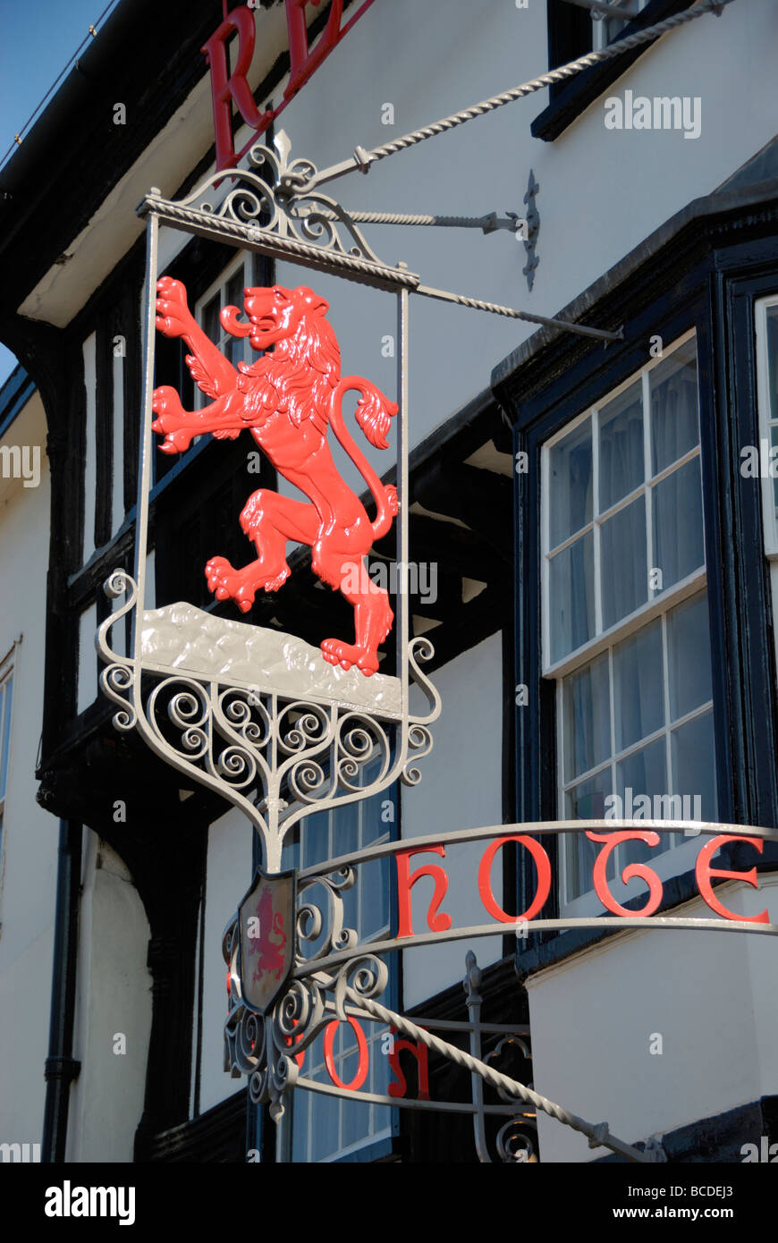 The Black Lion Hotel in Colchester Essex England UK - Stock Image