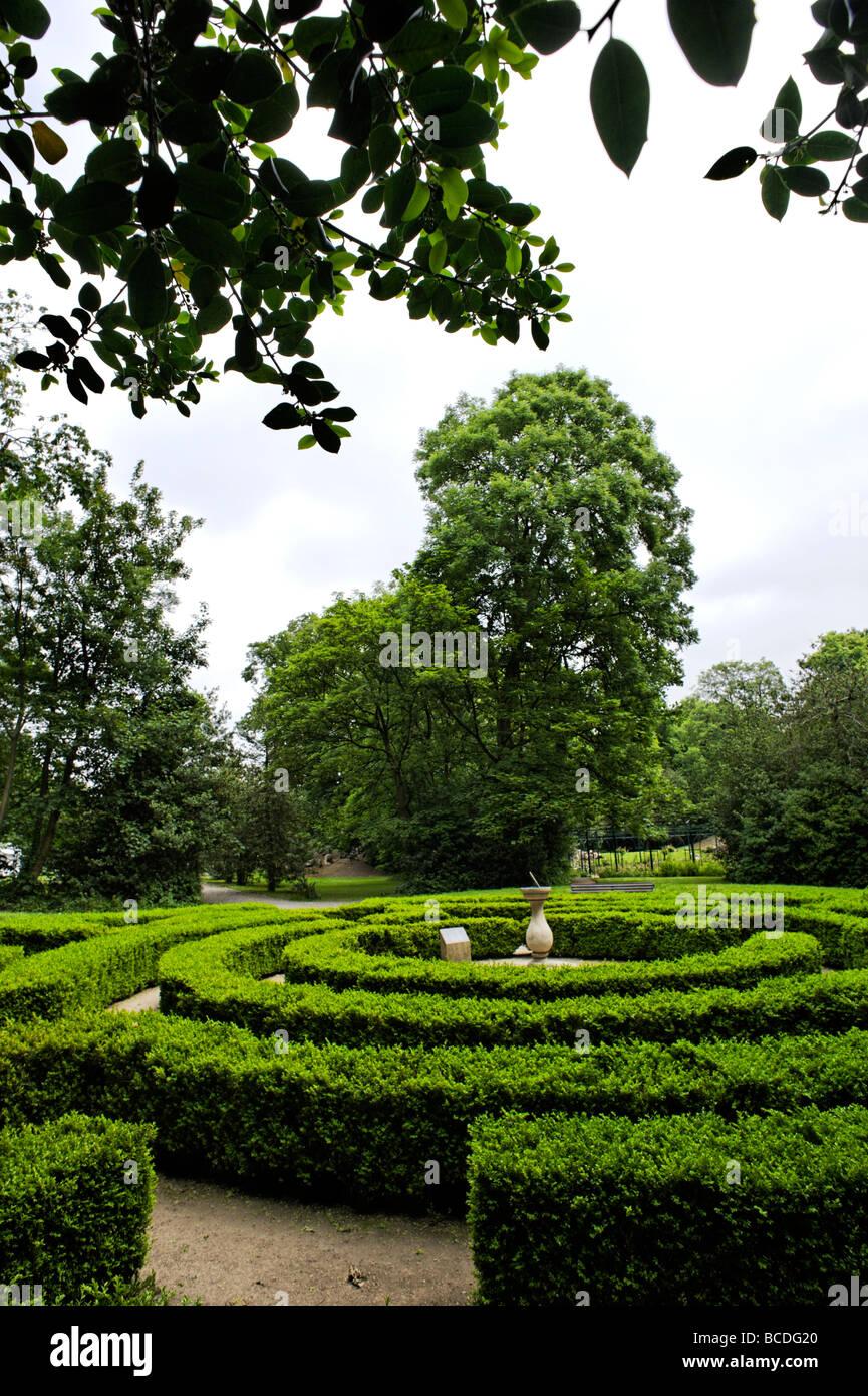 The Iveagh Gardens maze Dublin Republic of Ireland - Stock Image