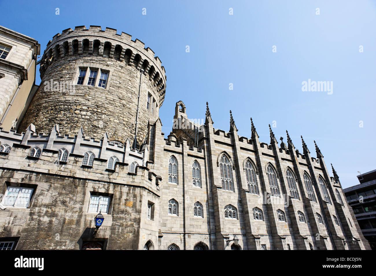 Record Tower and Chapel Royal at Dublin Castle Dublin Republic of Ireland - Stock Image