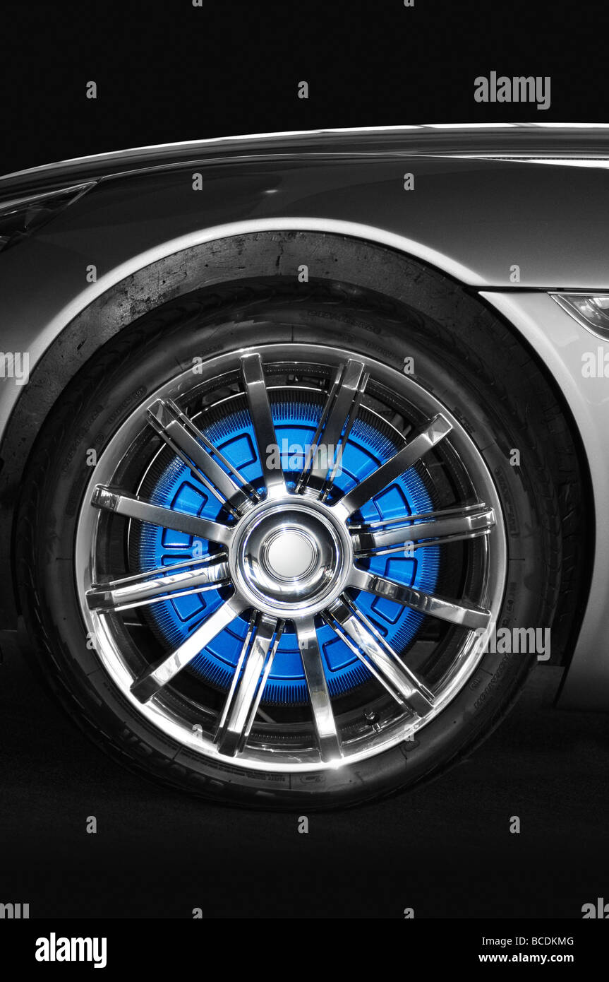 Car wheel - Stock Image