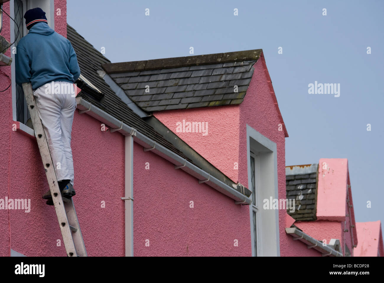 Terraced House Painted In Colours Stock Photos & Terraced House ...